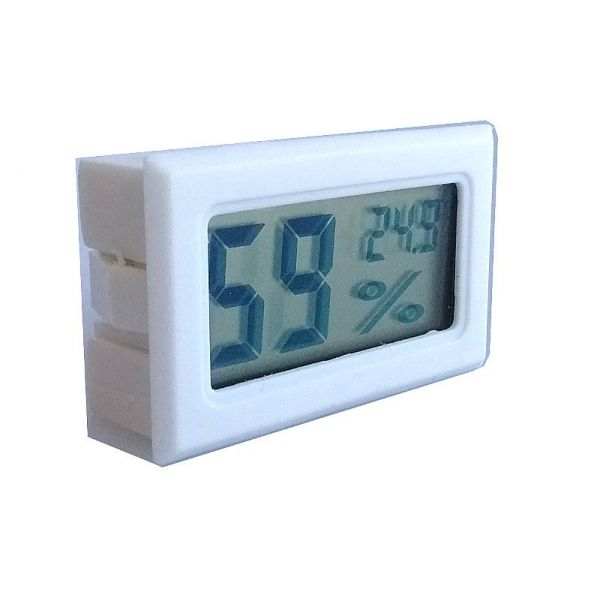 2in1 Digitale Hygrometer en Thermometer - white sideview