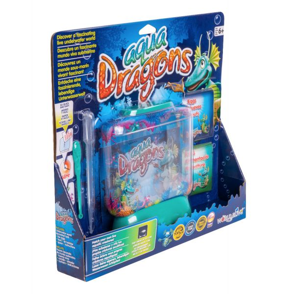 Aqua dragons side view