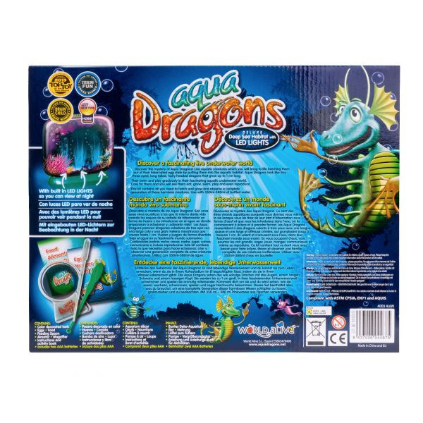 Aqua dragons back