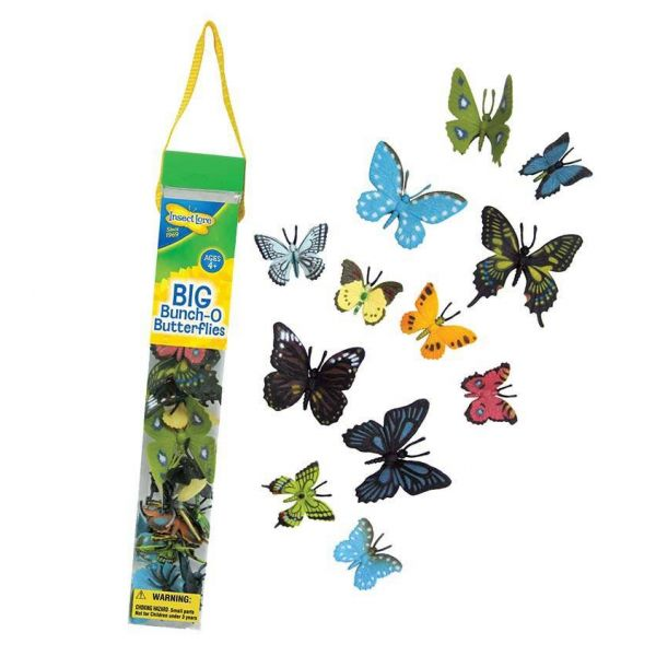 Plastic gedetailleerde vlinders
