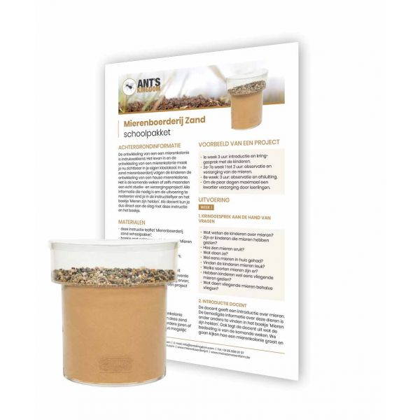 Mierenboerderij Zand Schoolpakket