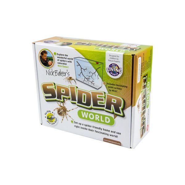 Sideview spider world, spinnenbak
